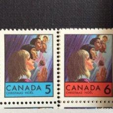 Sellos: CANADA Nº YVERT 417/8***. AÑO 1969. NAVIDAD. Lote 240952530