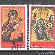 Timbres: GRECIA Nº 1310/11º NAVIDAD 1978. SERIE COMPLERTA. Lote 219692045