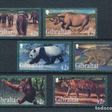 Sellos: GIBRALTAR 2011 IVERT 1431/36 *** FAUNA - ANIMALES SALVAJES EN PELIGRO DE EXTINCIÓN. Lote 220968721