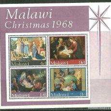 Sellos: MALAWI 1968 HB IVERT 12 *** NAVIDAD - PINTURA RELIGIOSA. Lote 221270333
