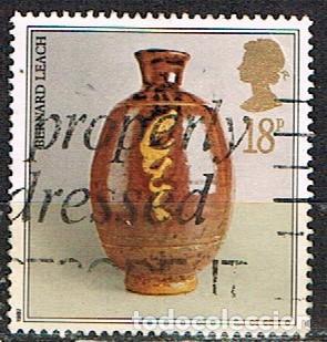 GRAN BRETAÑA IVERT Nº 1284, JARRON DE CERÁMICA: BERNARD LEACH., USADO (Sellos - Temáticas - Navidad)