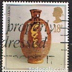 Sellos: GRAN BRETAÑA IVERT Nº 1284, JARRON DE CERÁMICA: BERNARD LEACH., USADO. Lote 221407418