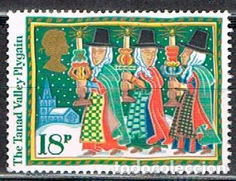 GRAN BRETAÑA IVERT Nº 1248, NAVIDAD 1986, LEYENDAS NAVIDEÑAS: THE TANAD VALLEY PLYGAIN, NUEVO *** (Sellos - Temáticas - Navidad)