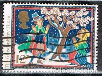 GRAN BRETAÑA IVERT Nº 1248, NAVIDAD 1986, LEYENDAS NAVIDEÑAS: LA ESPINA DE GLASTONBURY, USADO (Sellos - Temáticas - Navidad)