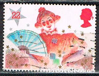 GRAN BRETANA IVERT Nº 1204, NAVIDAD 1985, VESTIDOS DE PANTOMIMA, LA GRAN DAMA, USADO (Sellos - Temáticas - Navidad)