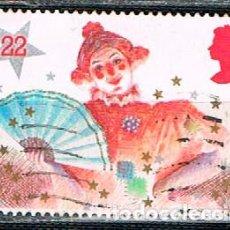 Sellos: GRAN BRETANA IVERT Nº 1204, NAVIDAD 1985, VESTIDOS DE PANTOMIMA, LA GRAN DAMA, USADO. Lote 221490700