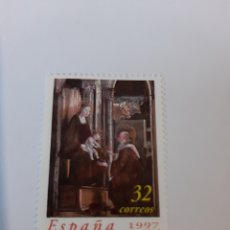 Sellos: PEDRO BERRUGUETE PINTURA ADORACIÓN NAVIDAD 1997 ESPAÑA EDIFIL 3519 NUEVA. Lote 221741480