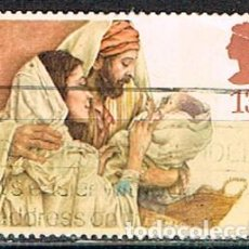 Sellos: GRAN BRETAÑA 1163, NAVIDAD 1984, SAGRADA FAMILIA, USADO. Lote 221824537