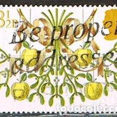 Sellos: GRAN BRETAÑA IVERT Nº 961, NAVIDAD 1980: MUERDAGO CON MANZANAS, USADO. Lote 222064033