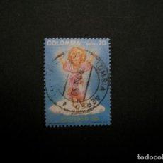 Selos: /24.10/-COLOMBIA-1990-CORREO AEREO 70 P. Y&T 825 SERIE COMPLETA EN USADO/º/. Lote 222121253