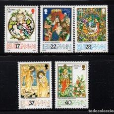Sellos: MAN 557/61** - AÑO 1992 - NAVIDAD - VIDRIERAS DE CATEDRALES E IGLESIAS. Lote 222577208