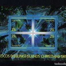Sellos: COCOS HB 5** - AÑO 1985 - NAVIDAD. Lote 222580072