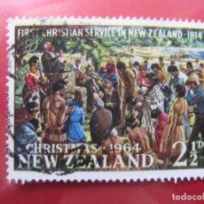 Sellos: +NUEVA ZELANDA, 1964, NAVIDAD, YVERT 423. Lote 222632288