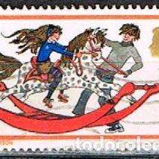 Sellos: GRAN BRETAÑA Nº 546, NAVIDAD 1968, JUGUETES: CABALLO DE MADERA, USADO. Lote 222696741