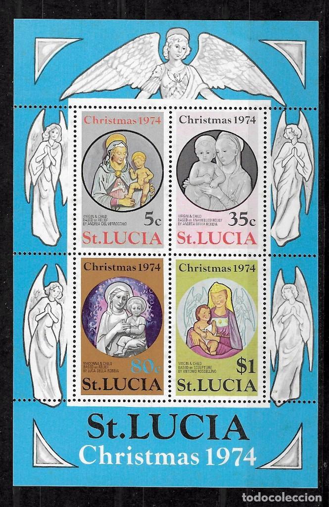 SANTA LUCIA Nº HB 5 (**) (Sellos - Temáticas - Navidad)