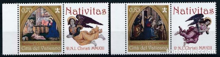 VATICANO 2013 IVERT 1645/6 *** NAVIDAD -ARTE - PINTURA (Sellos - Temáticas - Navidad)