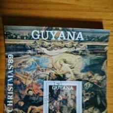 Sellos: GUYANA - HOJA BLOQUE CHRISTMAS 1989. Lote 225400042