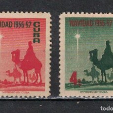 Sellos: 515-2 CUBA 1956 NG CHRISTMAS GREETINGS. Lote 226334000