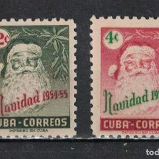 Sellos: 438-2 CUBA 1954 NG CHRISTMAS GREETINGS. Lote 226334155