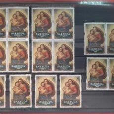 Sellos: SELLOS DE BARBUDA AÑO 1969 NAVIDAD NUEVOS CON GOMA. Lote 228555120