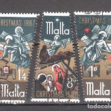 Timbres: MALTA Nº 366/368º NAVIDAD 1967. SERIE COMPLETA. Lote 229683340