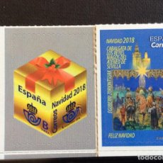 Sellos: ESPAÑA Nº YVERT 5004/5*** AÑO 2018. NAVIDAD. REYES MAGOS Y REGALO. Lote 230294575