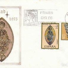 Selos: EDIFIL 2300/1. NAVIDAD, RETABLO DEL SANTUARIO DE SAN MIGUEL (NAVARRA) PRIMER DIA 4-11-1975 SOBRE SFC. Lote 230560590