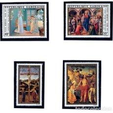 Sellos: GABON - REPUBLIQUE GABONAISE - PINTURAS TEMA RELIGIOSO - NAVIDAD Y PASCUA 1975. Lote 231003185