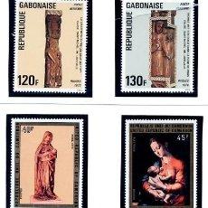 Sellos: GABON - REPUBLIQUE GABONAISE PASCUAS 1976 - CAMERUN - CAMEROON NAVIDAD 1974 PINTURAS TEMA RELIGIOSO. Lote 231003400
