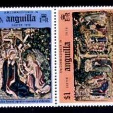 Sellos: ANGUILLA - PASCUA 1976 - YVERT 220/225 - TAPICES MONASTERIO RHEINAU - SERIE COMPLETA NUEVA. Lote 231233850