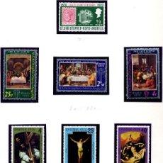 Sellos: ST CHRISTOPHER NEVIS ANGUILLA - 1970 CENTENARIO SELLO + PASCUA 1973 + PASCUA 1974 - NUEVOS. Lote 231993145