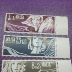 Sellos: SELLOS MALTA NUEVOS/1972/NAVIDAD/RELIGION/CREENCIAS/ANGEL/PANDERETA/INSTRUMENTOS/MUSICA/ADORNOS/. Lote 233726180