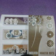 Sellos: SELLOS MALTA NUEVOS/1973/NAVIDAD/RELIGION/ANGELES/PANDERETA/NACIMIENTO/ESTRELLA/BELEN/CREENCIAS/. Lote 233738610