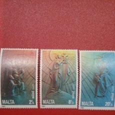 Sellos: SELLOS MALTA NUEVOS/1985/NAVIDAD/RELIGION/VIRGEN/NIÑO/REYES/MAGOS/ANGELES/GLOBO/TERRAQUEO/ESCENAS. Lote 234105925