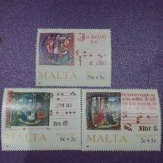 Sellos: SELLOS MALTA NUEVOS/1987/CANTOS/CORALES/MUSICA/NAVIDAD/CUADROS/PINTURAS/NAVIDAD/RELIGION/PARTITURA/. Lote 234381470