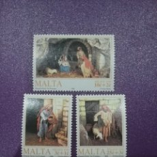 Sellos: SELLOS MALTA NUEVOS/1990/NAVIDAD/RELIGION/POSADERO/MACIMIENTO/OVEJA/PASTOR/ESCENAS/BIBLIA/NIÑO/VIRGE. Lote 234392845