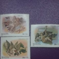 Sellos: SELLOS MALTA NUEVOS/1989/ANGELES/NAVIDAD/PAREJA/TROMPETA/MÚSICA/RELIGION/CREENCIAS/ARTE. Lote 234554930
