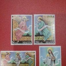 Sellos: SELLOS MALTA NUEVOS/1994/NAVIDAD/RELIGION/ANGELES/VIRGEN/NIÑO/NACIMIENTO/CREENCIAS. Lote 234586375
