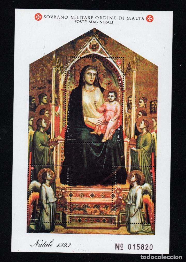 ORDEN DE MALTA F 455** - AÑO 1993 - NAVIDAD - PINTURA RELIGIOSA - OBRA DE GIOTTO (Sellos - Temáticas - Navidad)