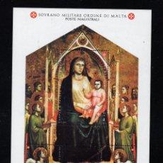 Sellos: ORDEN DE MALTA F 455** - AÑO 1993 - NAVIDAD - PINTURA RELIGIOSA - OBRA DE GIOTTO. Lote 234940015