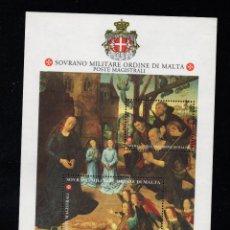 Sellos: ORDEN DE MALTA F 481** - AÑO 1993 - NAVIDAD - PINTURA RELIGIOSA - OBRA DE HUGO VAN DER GOES. Lote 234941010