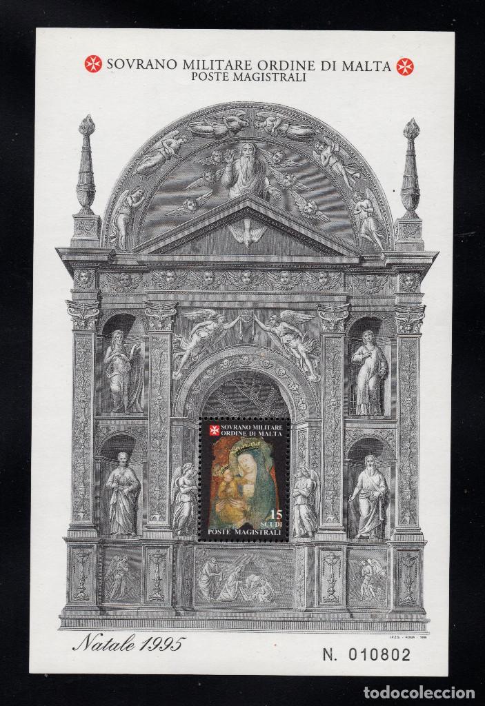 ORDEN DE MALTA F 488** - AÑO 1995 - NAVIDAD - PINTURA RELIGIOSA - VIRGEN DE QUERCIA (Sellos - Temáticas - Navidad)