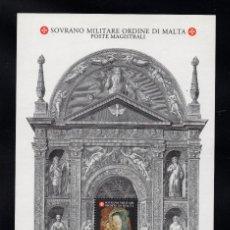 Sellos: ORDEN DE MALTA F 488** - AÑO 1995 - NAVIDAD - PINTURA RELIGIOSA - VIRGEN DE QUERCIA. Lote 234945235
