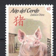 Sellos: UY3641 URUGUAY 2019 MNH YEAR OF THE PIG. Lote 236771965