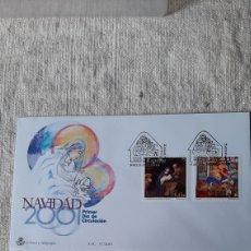 Sellos: EDIFIL 3835/6 SFC 37 2001 NAVIDAD RELIGIÓN ESPAÑA ALEMANIA SFC 37 MATASELLO USADO VIRGEN. Lote 236875010