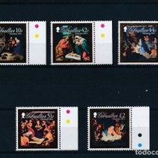 Sellos: GIBRALTAR 2011 MICHEL 1452/56 *** NAVIDAD - LA NATIVIDAD - PINTURA. Lote 237118015