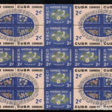Sellos: CUBA 1960 CHRISTMAS MLH - FLOWERS, NOTES, CHRISTMAS. Lote 241497960