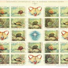Sellos: CUBA 1961 CHRISTMAS MNH - BIRDS, CHRISTMAS, SNAILS. Lote 241498205