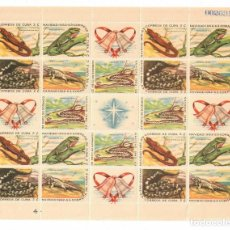 Sellos: CUBA 1962 CHRISTMAS MLH - FAUNA, CHRISTMAS, RODENTS. Lote 241498370