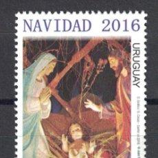 Sellos: URUGUAY 2016 CHRISTMAS 2016 MNH - CHRISTMAS. Lote 241514315